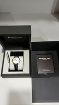 Raymond Weil Toccata Silver Dial Black Strap Ladies Watch 5388-PC5-65001 - New! - $299.99
