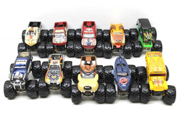 10 Vintage Hot Wheels Monster Jam Trucks 1:64 Die Cast Five-O+Ninja Blad... - $51.65
