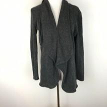 Francesca's Anthropologie Women's Gray Longsleeve Draped Cardigan Sweate... - $22.76