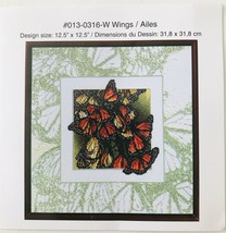 """Just a Chart Wings Counted Cross Stitch Design #013-0316-W 12.5"""" x 12.5""""... - $7.84"""