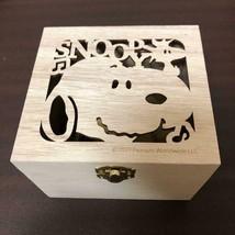 Snoopy wood empty box rare 2017 wood box  - $30.00