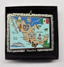 Mexico Landmarks Colored Brass Ornament - $18.95