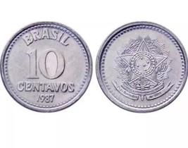 BRAZIL 10 Centavos, 1986, KM602, UNC World Coin - $3.95