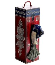 Wooden Indian Craft Gift Box Vintage Wine Storage Box Case Holder Carriers  - $148.10