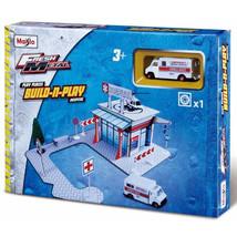 Maisto Kids Fresh Metal Hospital Build & Play Set w/ Ambulance - $33.85