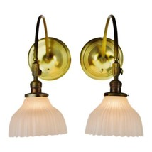 Victorian Style Brass Wall Sconces by Chase Brass - A Pair - $695.00