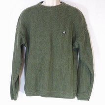 Chaps Ralph Lauren Knit Sweater Men Size L Green Zig-Zag Pattern Long Sl... - $19.77