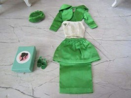 1963 Mattel Barbie #959 Theatre Date Complete Satin Outfit And Shoes Exc !! - $79.15