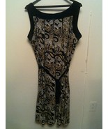 BLAIR ~ Women's XL Paisley Print Wide Strap Sleeveless Stretchy Belted D... - $25.72