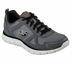 Skechers Men's Memory Foam shoes Charcoal Sport Comfort Train Mesh Sneak... - $41.49