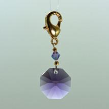Crystal Octagon Zipper Pull image 3