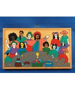 El Salvador Religious Jesus Wall Hanging Wood - $24.74