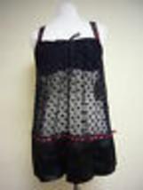 Linea Donatella ENTICE ME CHEMISE THONG SET BLACK EME080 SMALL  - $11.40