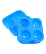 Blue Whiskey Silicon Ice Cube Ball Maker Mold Sphere Brick Party Tray Ro... - $6.92