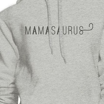 Mamasaurus Gray Round Neck Simple Graphic Hoodie Mom of Boys image 2