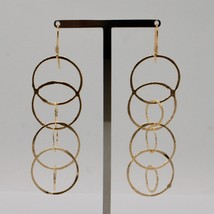 DROP EARRINGS 925 SILVER LAMINA GOLD AND CIRCLES BY MARY JANE IELPO image 1