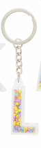 Disney Parks Mickey Mouse Bead Letter L Initial Keychain NEW - $15.90