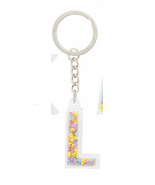 Disney Parks Mickey Mouse Bead Letter L Initial Keychain NEW - €13,66 EUR