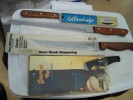 4 Knives Regent Sheffield Laser 7 Carver MIRACL-EDGE Carver Boning & Maxam Knife - $19.79