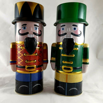 """Nutcracker Tin containers 9.5"""" tall 3.5"""" diameter Excellent condition - $19.79"""