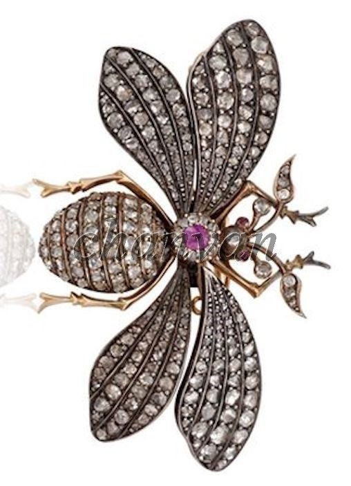 fee830ac9 S l1600. S l1600. Antique Inspire 2.9Ct Rose Cut Diamond 925 Silver Butterfly  Brooch Pin CSJ 241. Antique Inspire 2.9Ct ...
