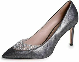 TORY BURCH DELPHINE PEWTER EMBELLISHED GLITTER SIZE 8 WOMEN'S POINTY TOE... - $237.59