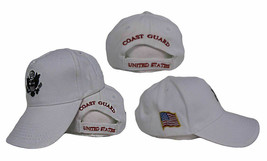 Active Duty Hat White US Coast Guard Embroidered baseball Cap - $21.77