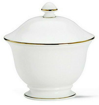 Lenox Continental Dining Gold Covered Sugar Bowl Footed-Oversized-USA New - $52.90