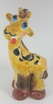 Vintage Giraffe Coin Bank Piggy Bank Hand Painted 10 Inches Tall - $29.99