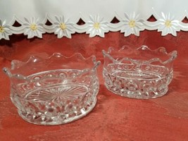 """PAIR OF CANDY DISH WIGGLY EDGE, CIRCLES AND STAR BOTTOM 4"""" X 2"""" image 1"""