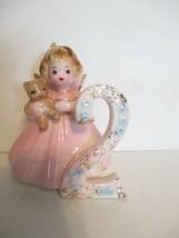 Vintage Josef Original Blond Two Year Birthday Girl Angel Figurine - $7.91