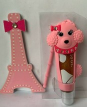 Bath Body Works Liplicious Poodle Holder Marshmallow Creme Lip Gloss Paris File - $29.65