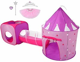 Hide N Side Gift for Girls, Princess Tent with Tunnel, Kids Castle Playh... - $55.09