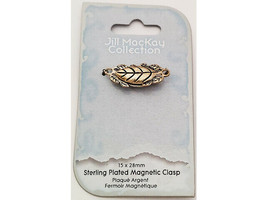 Jill Mackay Sterling Silver Plated Magnetic Floral Clasp #JMC1026