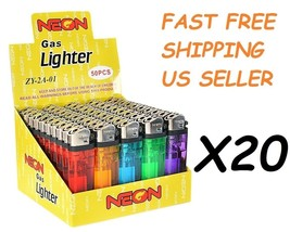 1000 Ct Full Size Disposable Cigarette Lighters Assorted Color Wholesale... - $128.69