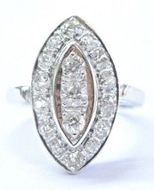 Vintage Old European Cut Diamond Cluster White Gold Ring 1.00Ct - $1,237.50