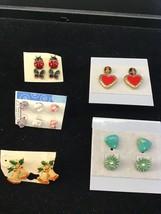 Lot of 10 Vintage Small Pierced Earrings (1466) - $7.50