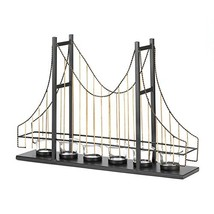 Gallery of Light Candle Holders, Decorative Golden Gate Center Table Can... - $53.47