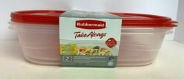 Rubbermaid Take Alongs 2 Large Rectangle 1Gal Food Storage Container W/ Red Lid - $26.59