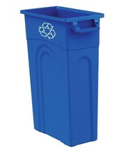 Slim Space Saving 23 gal. Recycling Tall Highboy Portable Waste Bin Container - $46.00