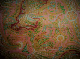 Window Valance New Ralph Lauren Fabric VILLAGE MEWS paisley orange pink ... - $36.65