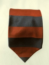 Brooks Brothers BFS All Silk Hand Made Neck Tie Navy and Red Stripes - $10.93