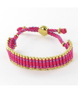Links of London Friendship Bracelet 12mm Pink Cord Sterling Gold Plated ... - $203.70