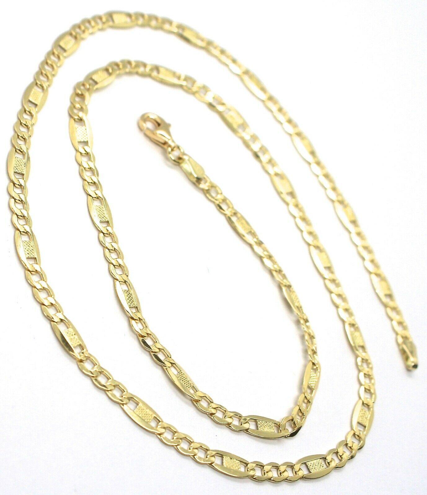 Kette Gelbgold 18K 750, 50 cm, Curb Chain Damen Wohnung und Platten image 2
