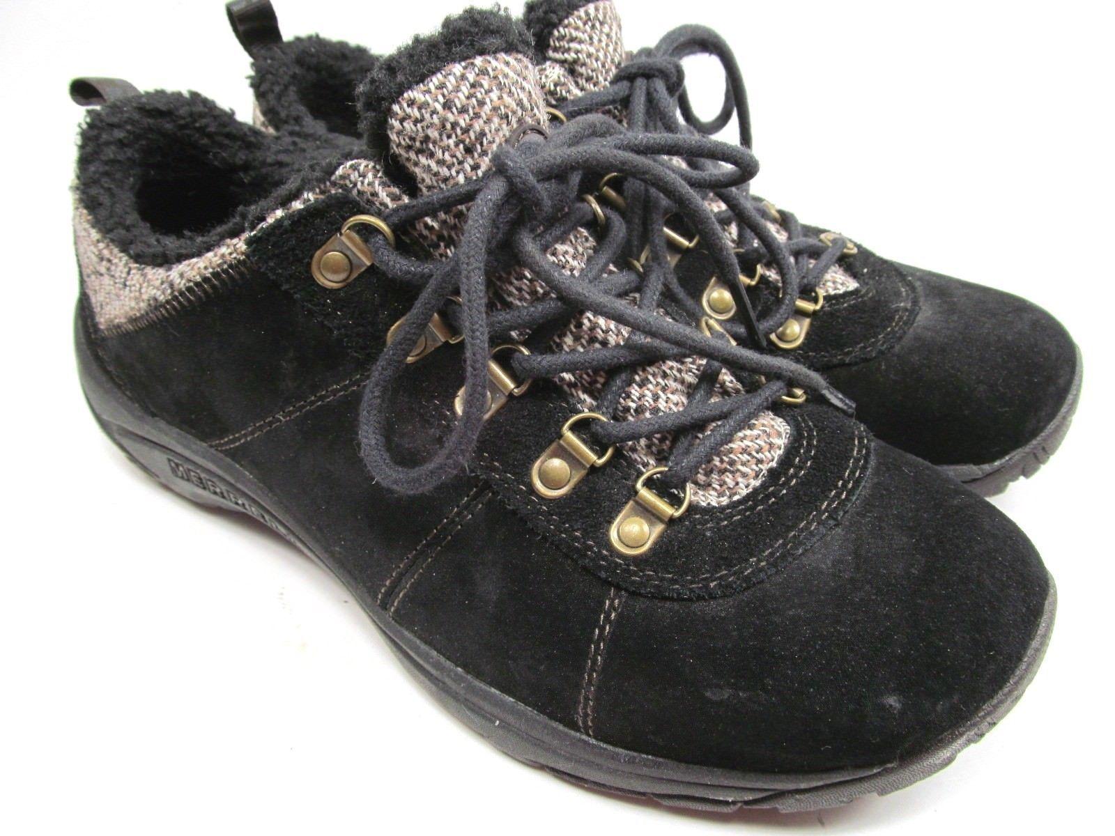 MERRELL Performance Women's Black Suede & Faux Fur Walking Shoes 9 M