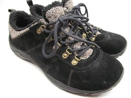 MERRELL Performance Women's Black Suede & Faux Fur Walking Shoes 9 M - $28.71