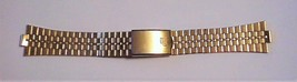 "Vintage Gold-Tone Watch Band 20mm Graduated Links NEW ""P"" Logo - $29.95"