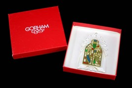 Gorham Crystal Rose Windows of the World Cathedral Ornament Stained Glass - $16.95