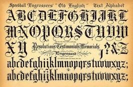 Speedball pen   old english text alphabet   1957   lettering calligraphy poster small thumb200