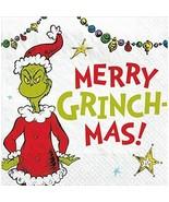 Traditional Grinch Merry Grinchmas Beverage Napkin, 16PCS Christmas Napkins - $9.77